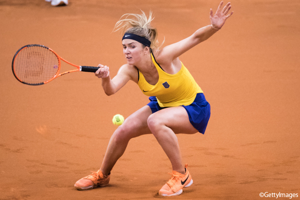 ※写真はフェドカップ・ワールドグループ・プレーオフでのエリナ・スビトリーナ Photo:STUTTGART, GERMANY - APRIL 23: Elina Svitolina of Ukraine returns the ball against Angelique Kerber of Germany during the FedCup World Group Play-Off match between Germany and Ukraine at Porsche Arena on April 2