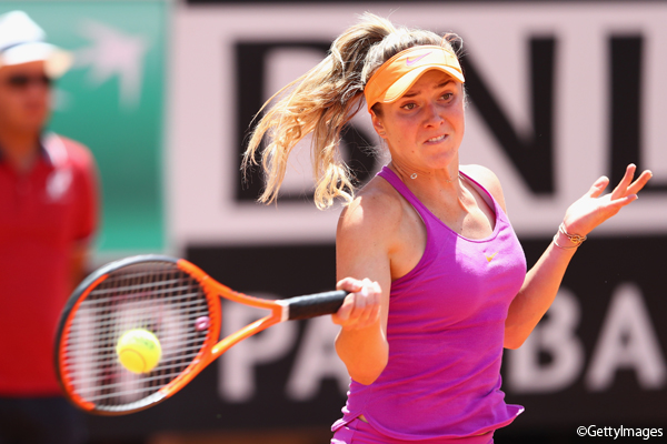 写真は「BNL イタリア国際」(WTAプレミア5)で初優勝を果たしたエリナ・スビトリーナ Photo:ROME, ITALY - MAY 21: Elina Svitolina of Ukraine in action during the women's final against Simona Halep of Romania on Day Eight of the Internazionali BNL d'Italia 2017 at Foro Italico on May 21, 2017 in
