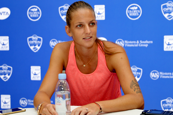 ※写真は世界ランク1位のカロリーナ・プリスコバ(チェコ) Photo:MASON, OH - AUGUST 14: Karolina Pliskova of Czech Republic fields questions from the media during Day 3 of the Western & Southern Open at the Lindner Family Tennis Center on August 14, 2017 in Mason, Ohio. (Photo by Matt