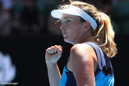 ※写真は全豪オープンでのココ・バンダウェイ Photo: MELBOURNE, AUSTRALIA - JANUARY 24: CoCo Vandeweghe of the United States celebrates a point in her quarterfinal match against Garbine Muguruza of Spain on day nine of the 2017 Australian Open at Melbourne Park on January 24, 20
